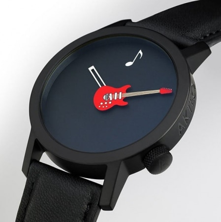 Montre Akteo Guitare Rouge 42