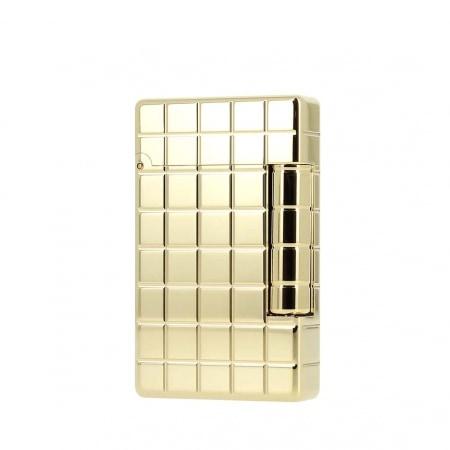Briquet S.T. Dupont Initial Quadrille Bronze doré