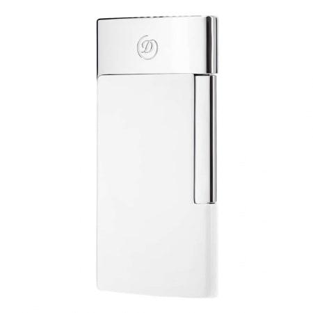 Briquet S.T. Dupont E-Slim Blanc & Chromé