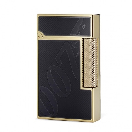 Coffret Collector Briquet S.T. Dupont Ligne 2 James Bond Noir/Or