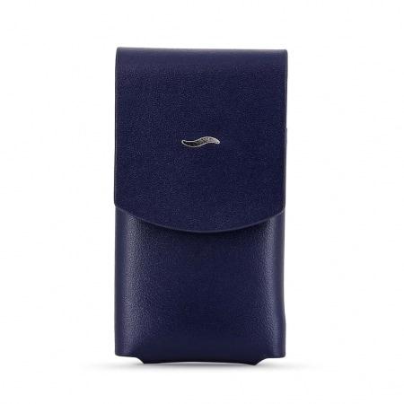 Etui briquet S.T. Dupont Slim 7 cuir Bleu