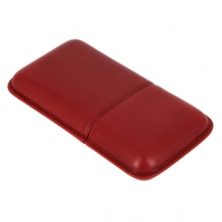Etui 3 cigares Corona cuir rouge