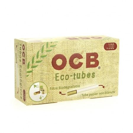 Boite de 100 tubes OCB Chanvre Bio avec filtre x1