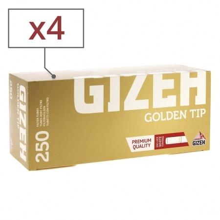 Boite de 250 tubes Gizeh Golden x 4