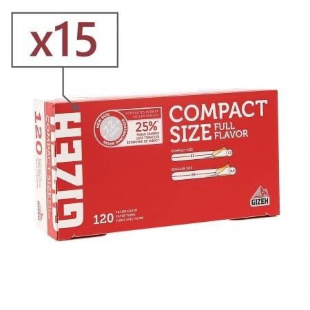 Boite de 120 tubes Gizeh Compact Size avec filtre x 15