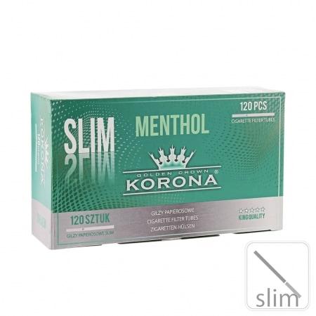 Boite de 120 tubes Korona Slim Menthol avec filtre