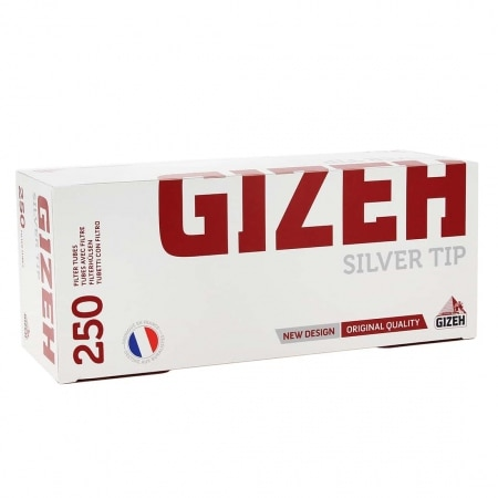 Boite de 250 tubes Gizeh Silver Tips avec filtre x 1