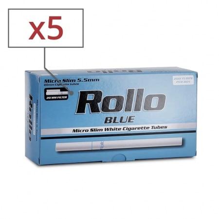 Boite de 200 tubes Rollo Blue Micro Slim x 5
