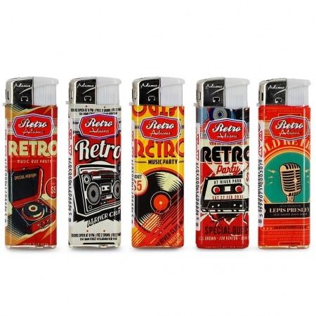Briquets électroniques Retro Sound x 5