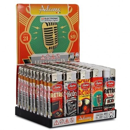 Briquets électroniques Retro Sound x 50