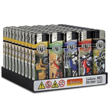 Briquets électroniques Retro Moto x 50