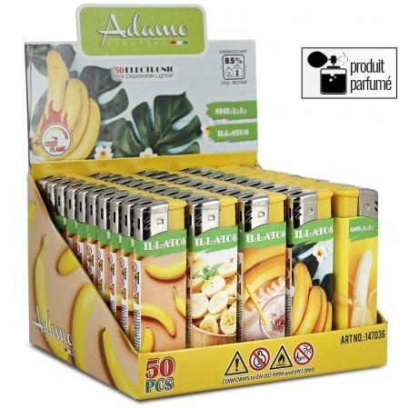 Briquets électroniques Senteur Banane x 50