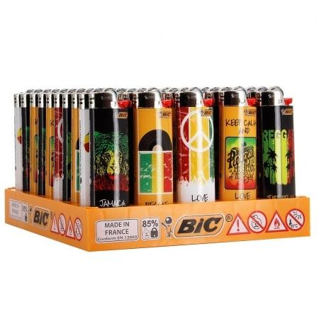 50 briquets Bic maxi à pierre Reggae
