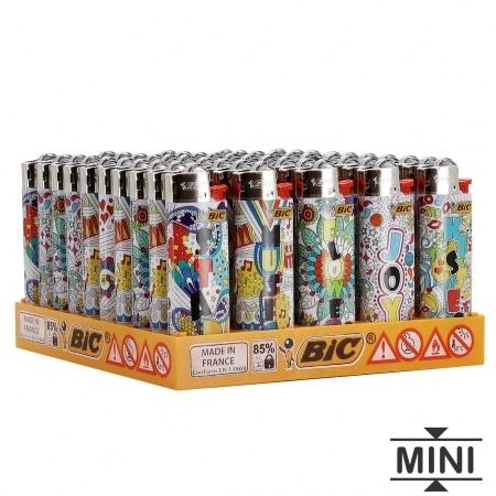 50 briquets Bic mini à pierre Color Street Art