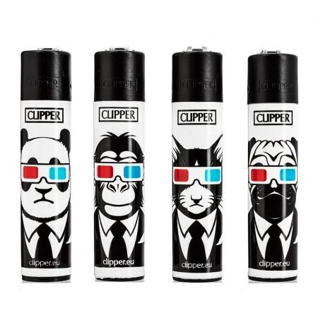 Briquet Clipper Animaux 3D x 4
