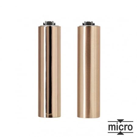 Briquet Clipper Micro Étui Rose Gold x 2
