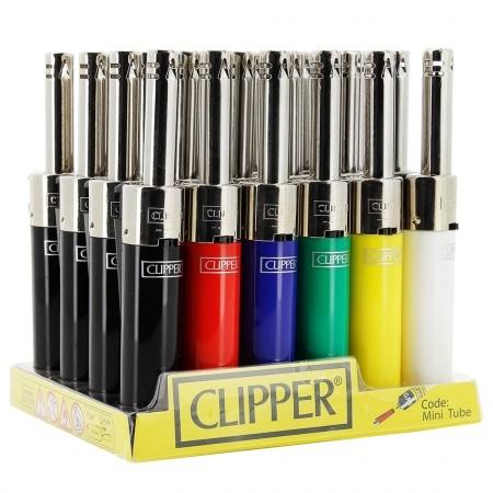 Briquet Clipper Mini Tube Couleurs x 24