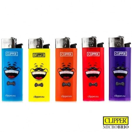 Briquet Clipper Brio Micro Émoticônes x 5
