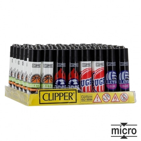 Briquet Clipper Micro Sport x 48