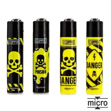 Briquet Clipper Micro Toxic x 4