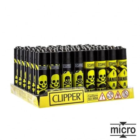 Briquet Clipper Micro Toxic x 48