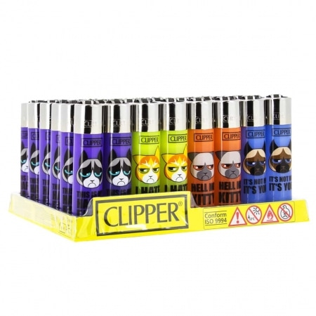 Briquet Clipper Angry Cats x48