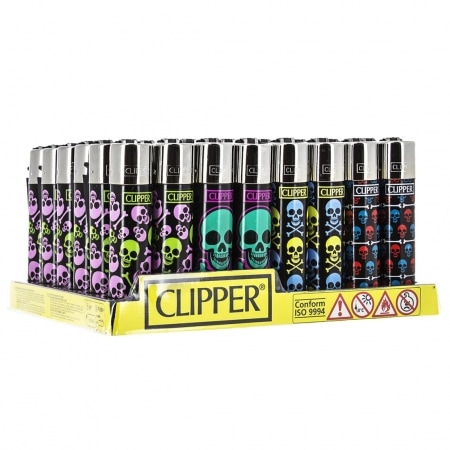 Briquet Clipper Skull x48
