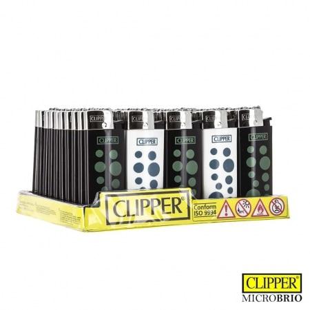 Briquet Clipper Brio Micro Petits Pois x 50