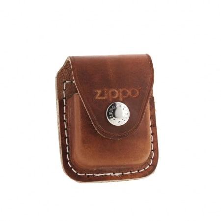 Zippo etui briquet cuir marron à clip 859008