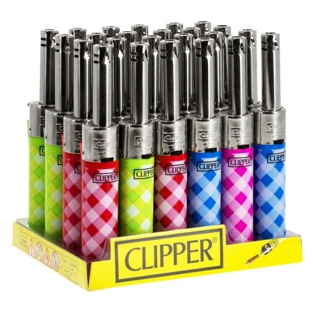 Briquet Clipper Mini Tube Vichy x 24