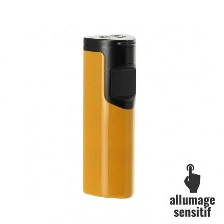 Briquet Myon electrique sensitif 3 flammes jaune