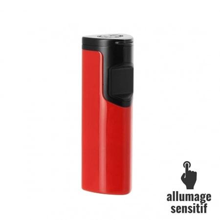 Briquet Myon electrique sensitif 3 flammes rouge