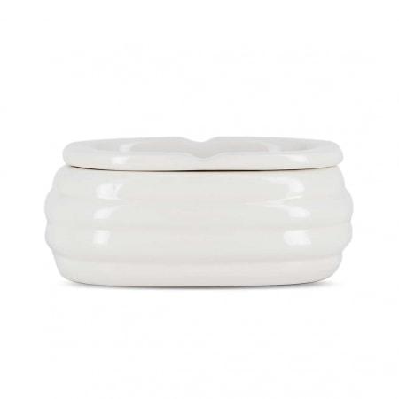 Cendrier Céramique Ovale Blanc
