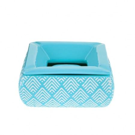 Cendrier Marocain Carré Bleu
