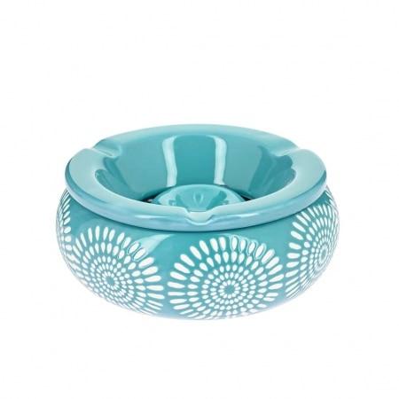 Cendrier Marocain Fleur Bleu Ciel