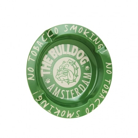 Cendrier The Bulldog Amsterdam métal vert