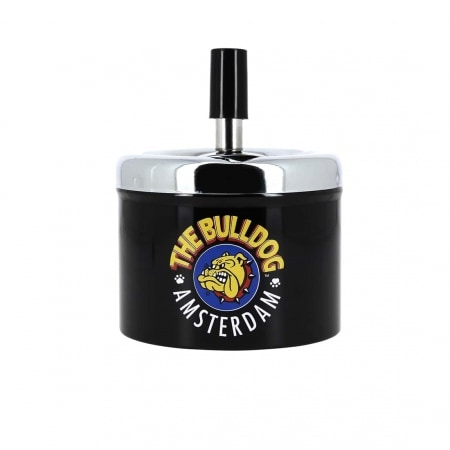 Cendrier Poussoir The Bulldog Noir