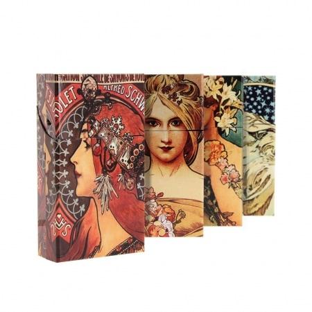 Etui paquet cigarette 100's décors ladies