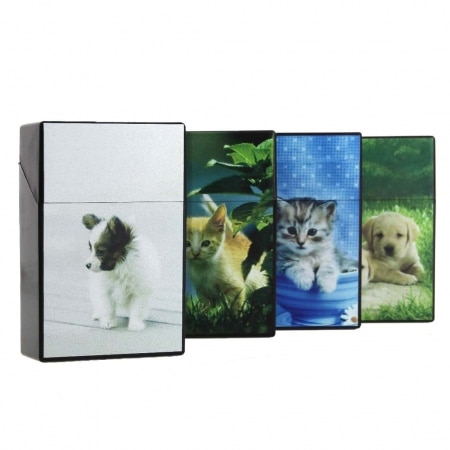 Etui paquet cigarette chat/chien