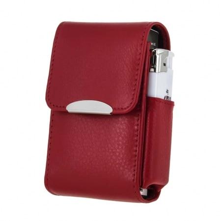 Etui paquet de cigarettes et Briquet CC049 Rouge Chacom