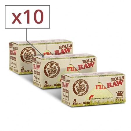 Papier à rouler Raw Rolls Organic X 10