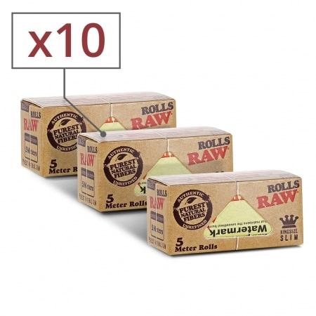Papier a rouler Raw Rolls Slim x 10