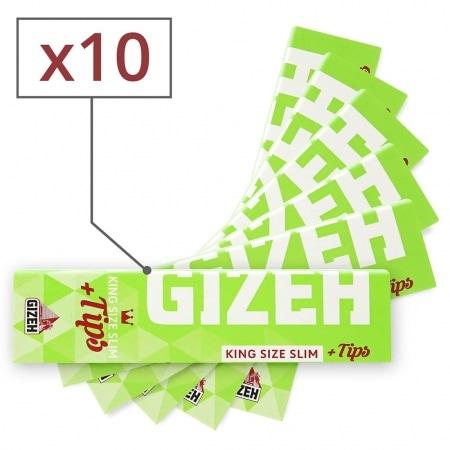 Feuille a rouler Gizeh Slim Hyper Fin et Tips x 10