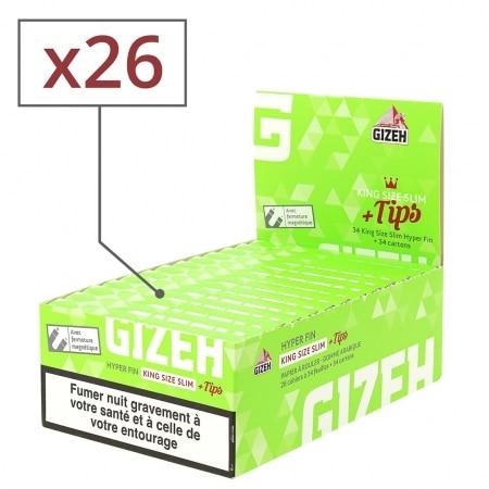 Feuille a rouler Gizeh Slim Hyper Fin et Tips x 26