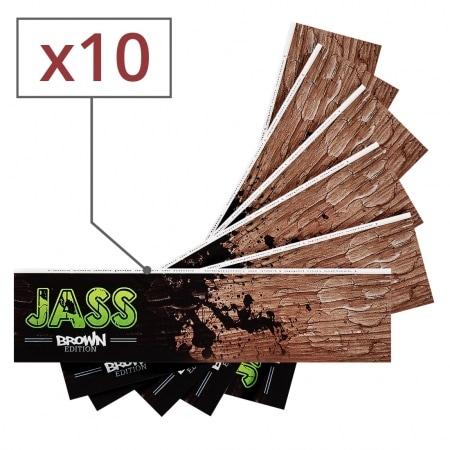 Feuille a rouler Jass Slim Brown x 10