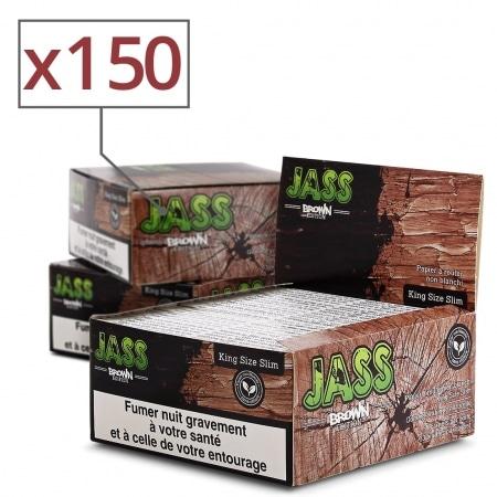 Feuille a rouler Jass Slim Brown x 50 Pack de 3