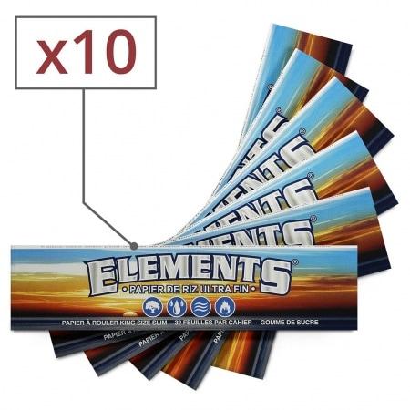 Papier à rouler Elements Slim x 10