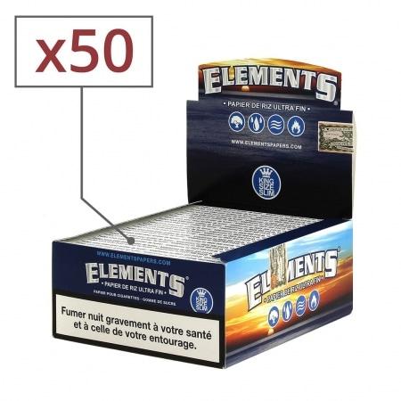 Papier à rouler Elements Slim x 50