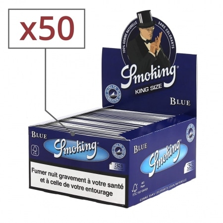 Papier à rouler Smoking Slim Blue x50