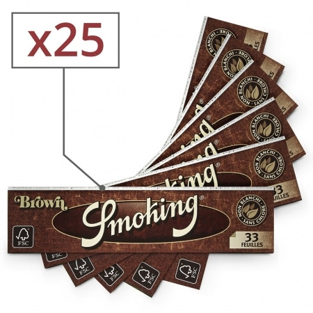 Papier à rouler Smoking Slim Brown x25